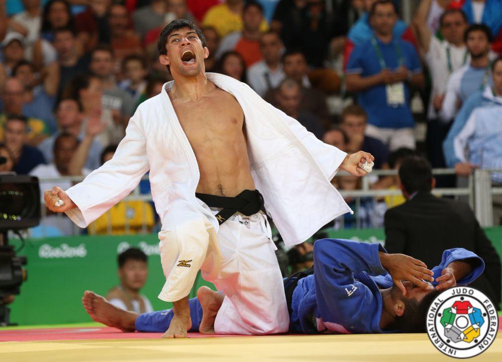 Lasha Shavdatuashvili is the Olympic medalist